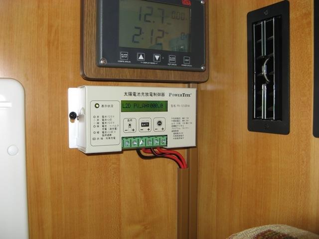 LCD表示の充電コントローラ