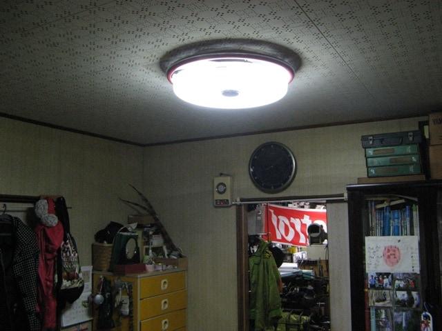 住居部分の照明もLEDに改造