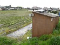 農作業小屋の屋根にパネル設置
