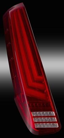80系ノア/ヴォクシー/エスクァイア用 LEDテールランプREVO ハーフレッド/クローム