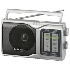 AudioComm AM/FMポータブルラジオ_RAD-T208S 03-0961
