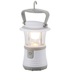 LEDランタン 電球色 IPX4 350lm 単1×3本 明るさ強弱機能 常夜灯 ECLAT_LN-40B7-W 07-8334