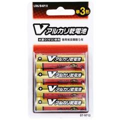 アルカリ単3乾電池 4本入り /B4P/V_LR6/B4P/V 07-9713