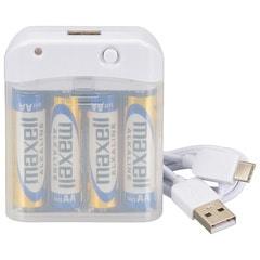 AudioComm 電池式充電器 スマートフォン用 USB TypeC|MAV-LR03C-W 01-7162