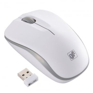 静音ワイヤレスマウス IR LED Mサイズ ホワイト/グレー [品番]01-3585