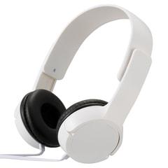 AudioComm ステレオヘッドホンH125 ホワイト|HP-H125N-W 03-2280
