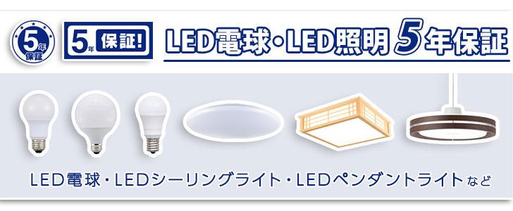 LED5年保証