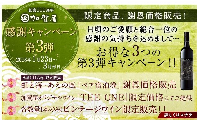総合1位受賞記念キャンペーン 第3弾