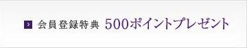 会員登録特典500ポイントプレゼント