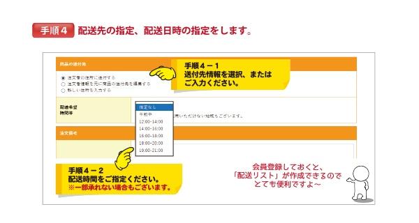 注文方法 手順4