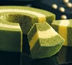しっとりほわほわ抹茶と豆乳のバームクーヘン:京ばあむ