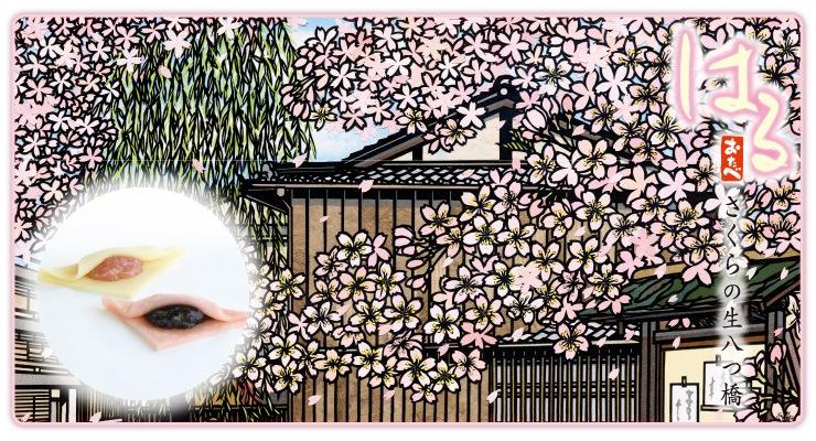 春限定 はるおたべ 2種類の桜の生八つ橋 4gatu