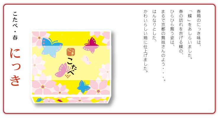 こたべ春箱・にっき・蝶デザイン