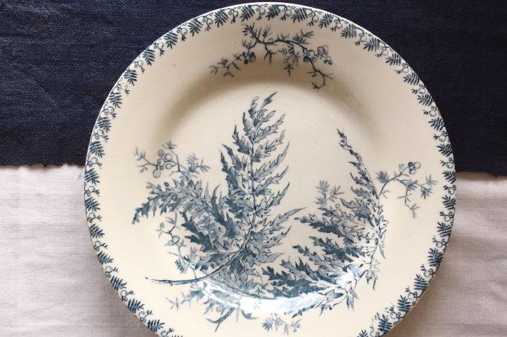 [antiques]GIEN ジアンリーフ皿