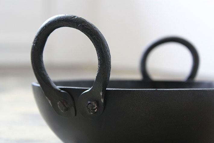 [fog linen work フォグリネンワーク]インドの鉄のお鍋