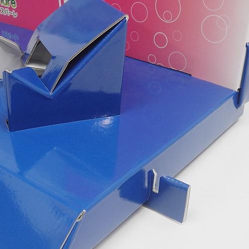 製作事例紹介 卓上什器 スパーレ展示台 什器をつなげるジョイント部分