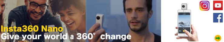 PC4U - Insta360 Nano iPhone対応360度カメラ VRヘッドマウントディスプレイ付き