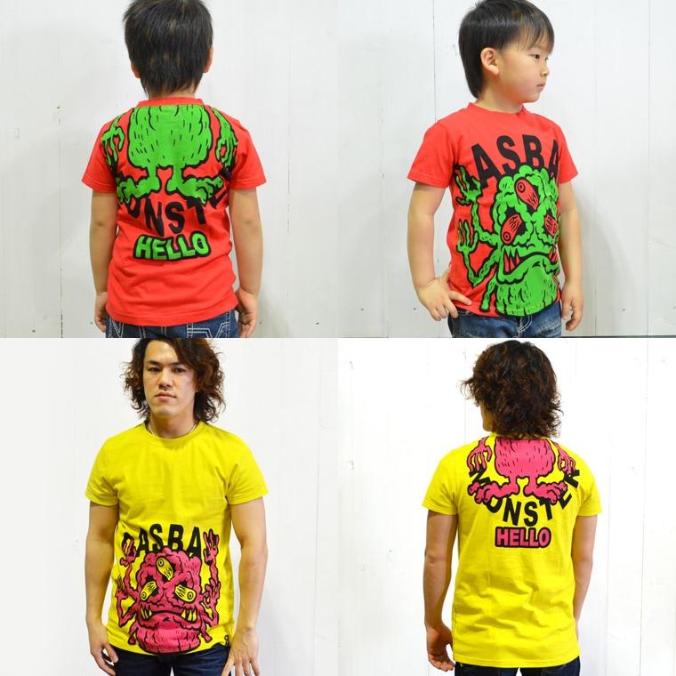 ガスバッグGASBAG 子供服 モンスターTシャツ