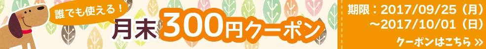 月末300円OFFキャンペーン