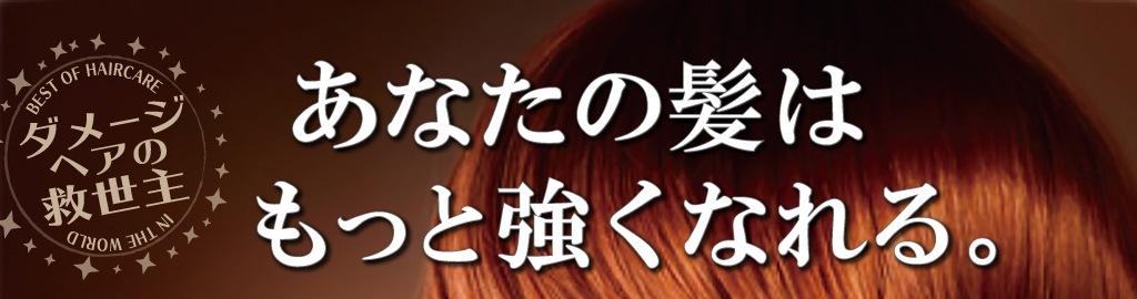 ダメージヘアの救世主。あなたの髪はもっと強くなれる。