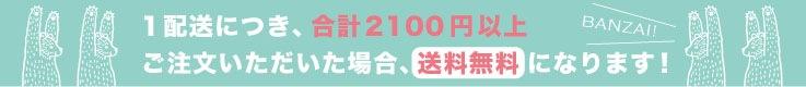 1配送先につき、合計2100円以上ご注文をいただいた場合、送料が0円になります
