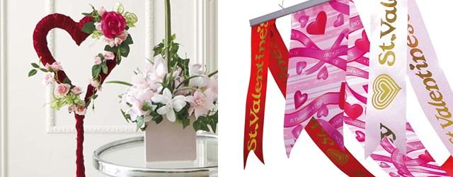 バレンタインのお店装飾