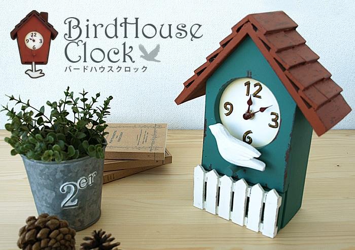 La Luz ラ・ルース BIRD HOUSE CLOCK バードハウスクロック
