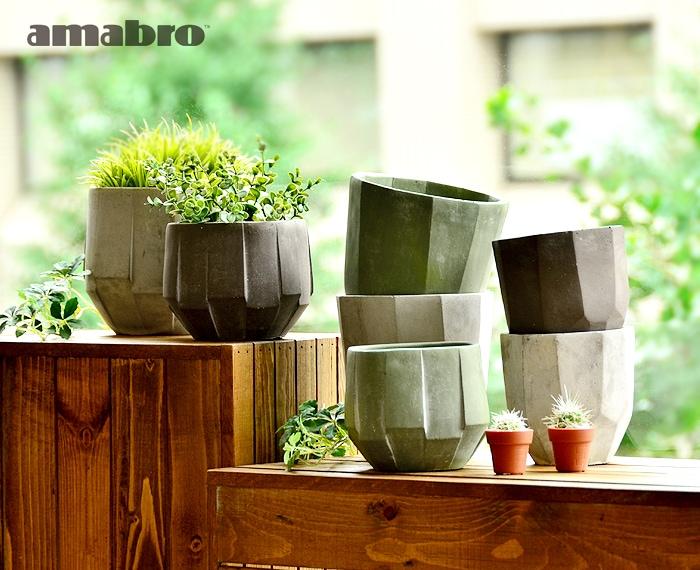 セメント 鉢 プランター amabro CEMENT PLANTER Polygon Artdeco アマブロ セメントプランター ポリゴン アールデコ 鉢 鉢植え おしゃれ ガーデニング