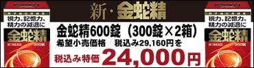 新「金蛇精600錠(300錠×2箱)」大特価税込み24,000円