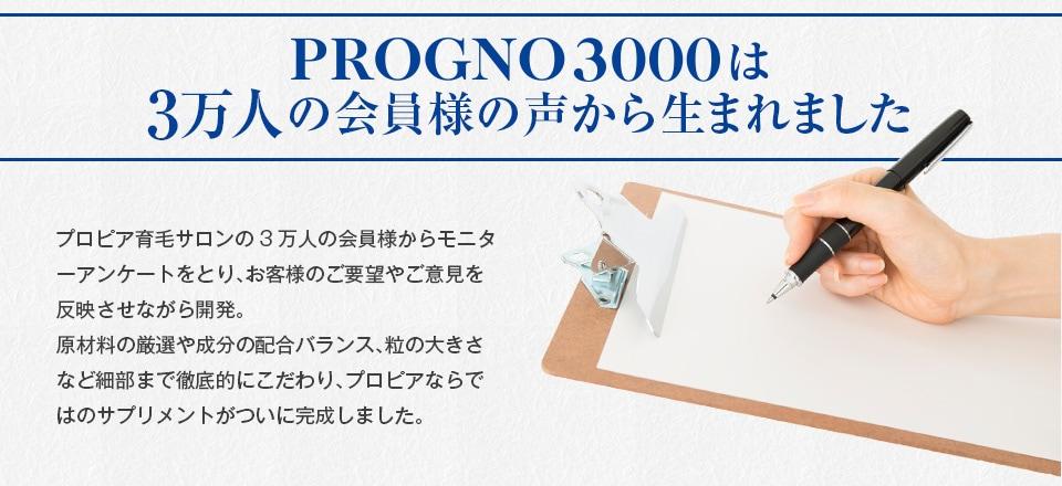 PROGNO3000は3万人のお客様の声から生まれました