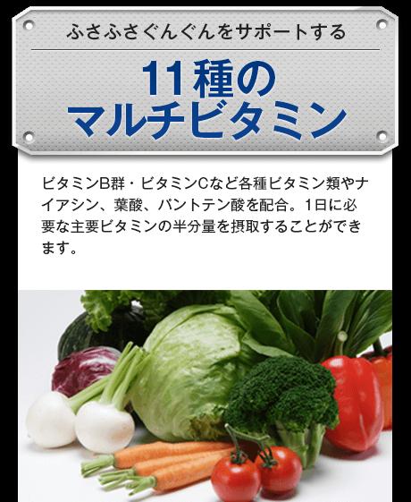 11種のマルチビタミン