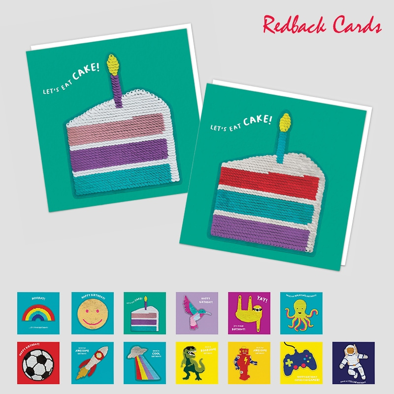 Redback Cards スパンコール付メッセージカード HAPPYBIRTHDAY