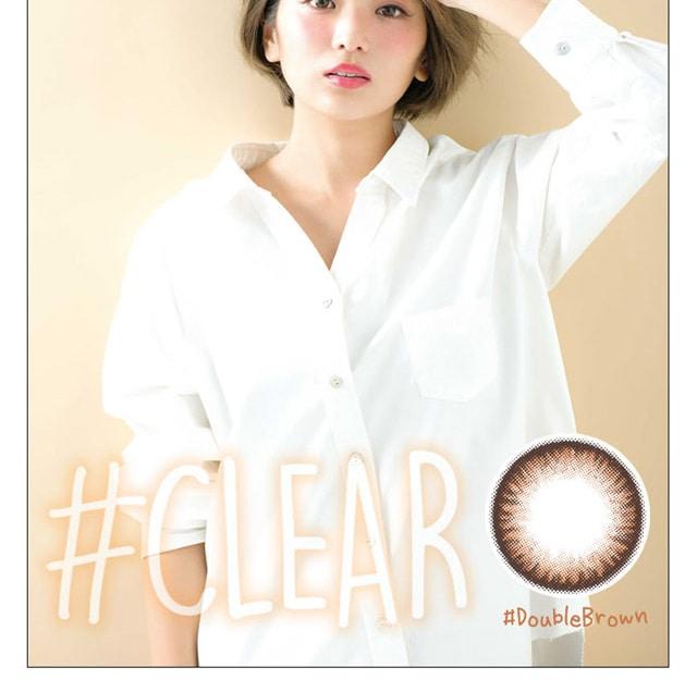 なつぅみプロデュースカラコン #CLEAR ダブルブラウン モデル画像