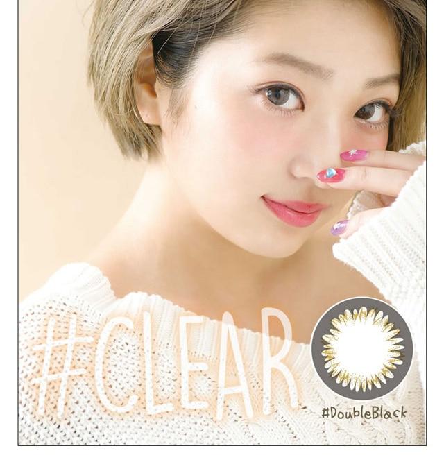 なつぅみプロデュースカラコン #CLEAR ダブルブラック モデル画像