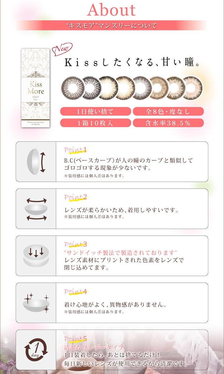 「キスモア フィオラ」はDIA14.2mm 着色直径13.7mm