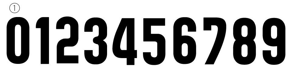 番号フォント