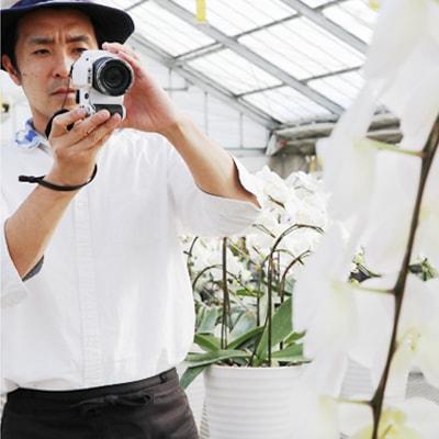 お花と立て札写真確認