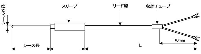 シース熱電対外形