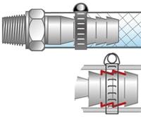 タケノコ継手(ホースニップル)構造