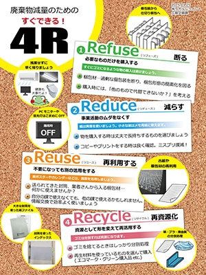 4Rポスター 廃棄物削減