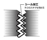 ネジ部のシール加工