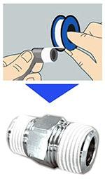 シールテープ 巻き方 シール剤塗布加工