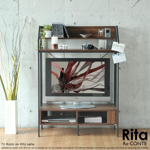 Rita リタ Re:conteRita series TV Rack  テレビラック TVラック 収納 ウォールナット 北欧 木製 AVボード ローボード AV収納 テレビボード