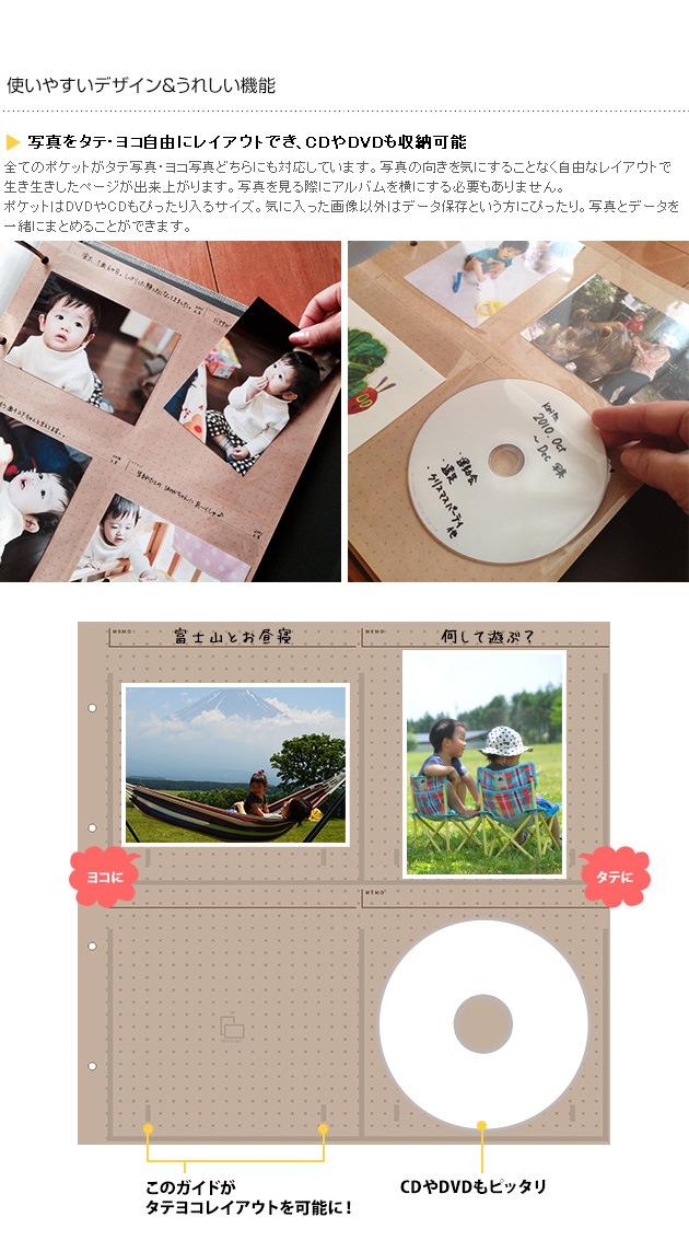 Susylabo(スージーラボ) THE PHOTOGRAPH LIBRARY(ザ フォトグラフライブラリー)  タテヨコアルバム(台紙別売りタイプ)