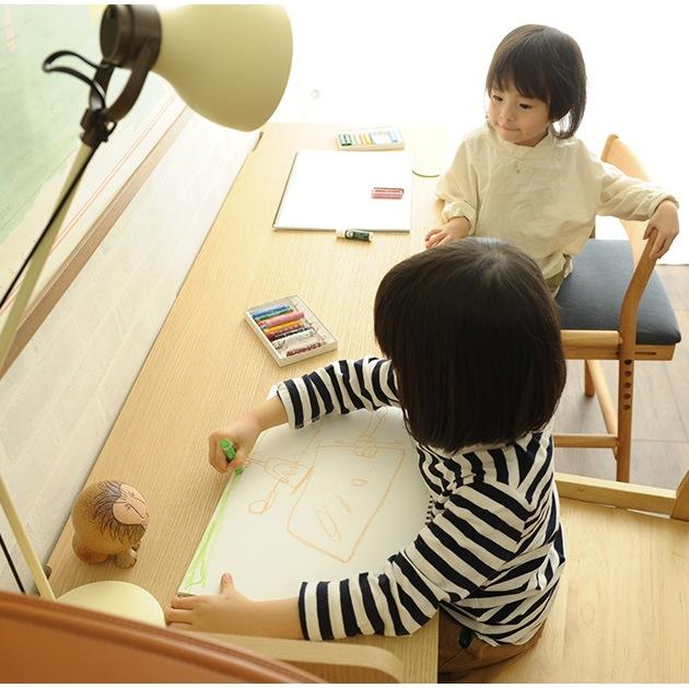 こどもと暮らしオリジナル Curio Life ロングデスク  学習机 リビング 薄型デスク 学習デスク 勉強机 ロングデスク キッズデスク 子供用 子供机 小学生