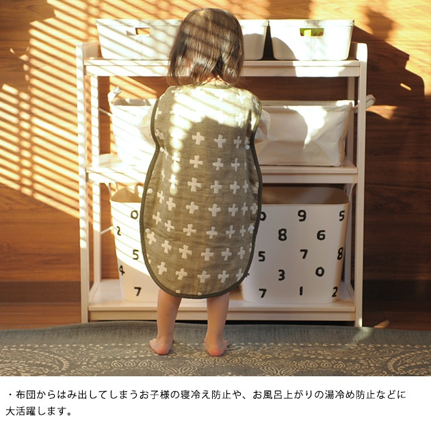 QUARTER REPORT クォーターリポート スリーパー  スリーパー 日本製 コットン 綿100 4重ガーゼ ガーゼ 出産祝い 北欧 プレゼント 内祝い