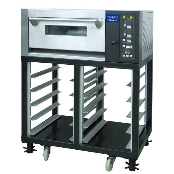 電気式デッキオーブン コンビシリーズ RCOS-1Y-ST デッキオーブン(横1枚差/1段)+ラック(縦1枚差/5段×2列) 単相200V