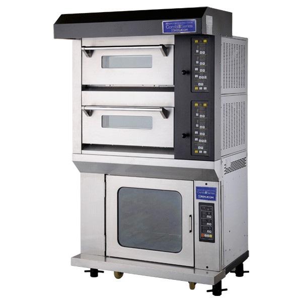 電気式デッキオーブン コンビシリーズ RCOS-2YGPS デッキオーブン(横1枚差/2段)+ホイロ(横1枚差/6段) 石板仕様