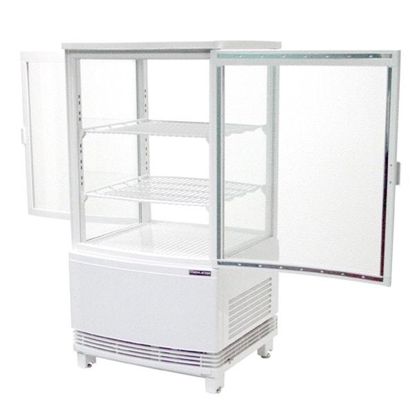 4面ガラス冷蔵ショーケース前開きタイプ