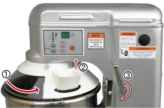 安全性を考慮した2段階の安全装置